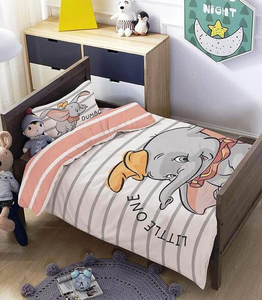 מצעים למיטת תינוק ומעבר 100% כותנה דגם דמבו, , large image number null