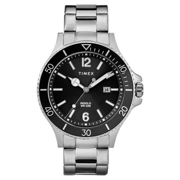 שעון יד אנלוגי עם תאורה ומחוגים זוהרים מבית TIMEX, , large image number null