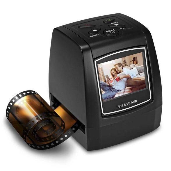 סורק נגטיבים ושקופיות בחיבור USB עם צג LCD מובנה דגם: EC718 כולל כרטיס זיכרון 16GB , , large image number null
