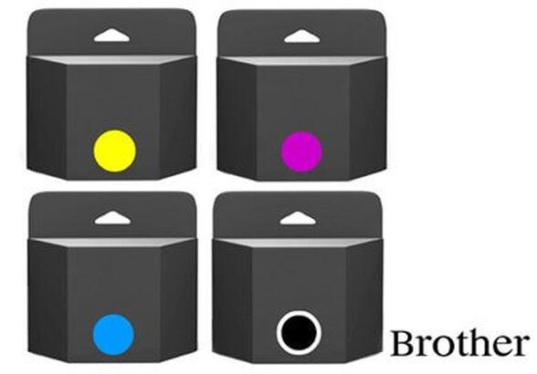 4 ראשי דיו תואמים למדפסות BROTHER ,הסט כולל ראש דיו שחור ושלושה ראשי דיו צבעוניים , , large image number null