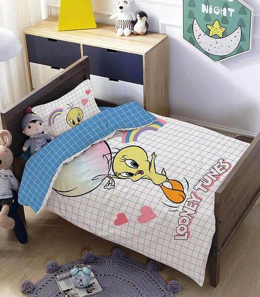 מצעים למיטת תינוק ומעבר 100% כותנה דגם טוויטי, , large image number null