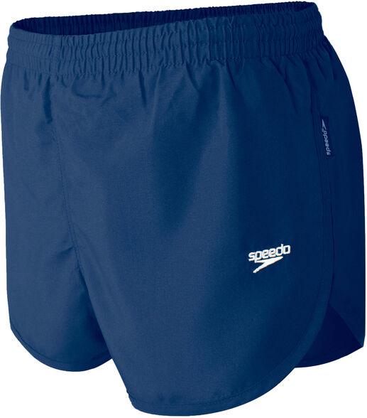 מכנסי ריצה וספורט לגבר בצבע כחול של חברת speedo, בגזרה נוחה עם שסע, , large image number null