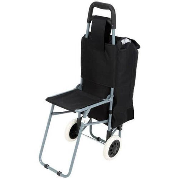 עגלת שוק חדשנית עם כיסא מתקפל, , large image number null
