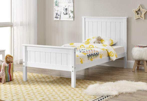 מיטת יחיד עשויה עץ מלא מסדרת VERY WOOD מבית HOME DECOR דגם עדן , , large image number null