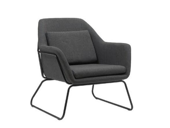כורסא מעוצבת עם רגלי ברזל HOME DECOR דגם ברייטון _אפור, , large image number null