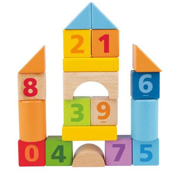 סט 20 קוביות עץ למשחק ולימוד ספירה, , large image number null
