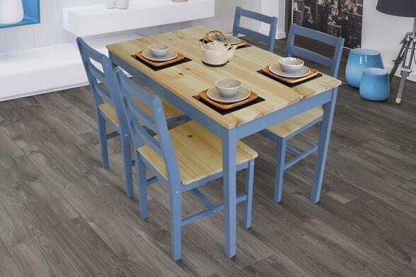 פינת אוכל + 4 כיסאות דגם LISA מבית GAROX, , large image number null
