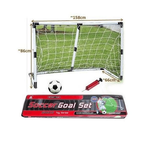 שער כדורגל 1.58 מטר כולל כדור כדורגל ומשאבה לניפוח - מתנה דגם 77490, , large image number null