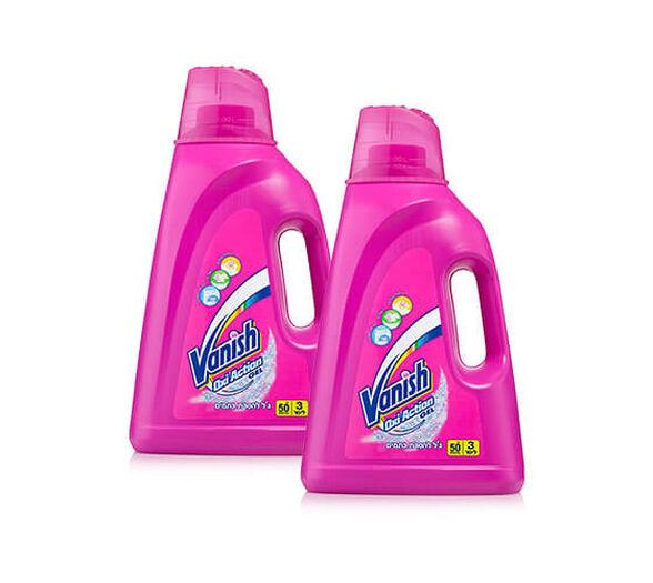 2 בקבוקי נוזל כביסה מסיר כתמים oxi action לכביסה צבעונית ולבנה, , large image number null