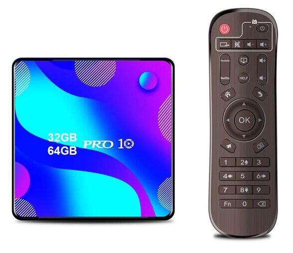 סטרימר  ANDROID TV BOX 4K ULTRA גירסה 10.0 + שלט חכם כולל מגוון תוכנות ונגני מדיה, , large image number null