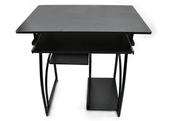 שולחן מחשב מפואר MSH-1-34 ממתכת ועץ מבית ROSSO ITALY רוחב 0.7 מטר שני צבעים לבחירה_שחור, , large image number null