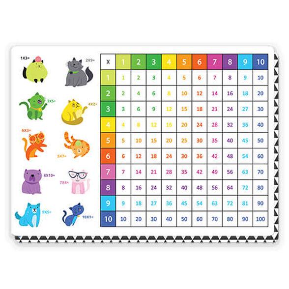 פלייסמט לוח הכפל בצורת טבלה   דרך נהדרת ללמוד ולשנן את לוח הכפל, , large image number null