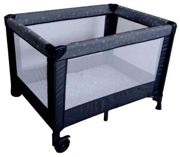 לול קמפינג / מיטה ניידת SIMPLY 2 לתינוק עם גלגלים וכילה - שחור כוכבים, , large image number null
