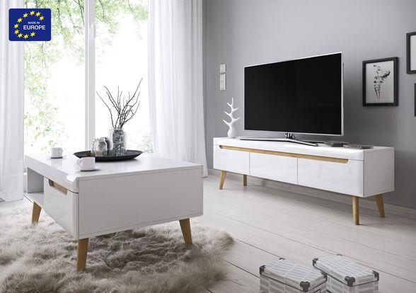 סט מזנון ושולחן מעוצבים בגימור מודרני תוצרת אירופה HOME DECOR דגם ליאת , , large image number null