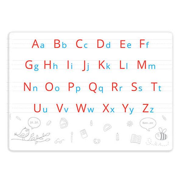 פלייסמט אותיות באנגלית כתב יד ודפוס   דו צדדי להעשרת הסביבה הלימודית באנגלית, , large image number null