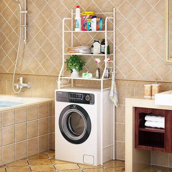 מעמד מדפים מעל מכונת כביסה, , large image number null
