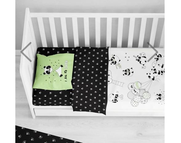 סט מלא למיטת תינוק 140/70 | דגם ליטל פנדה | מבית ורדינון, , large image number null