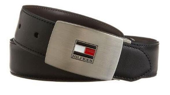 חגורה מעור לגבר Tommy Hilfiger בצבע שחור/חום | מגיעה במארז מהודר ומקורי של Tommy Hilfiger, , large image number null