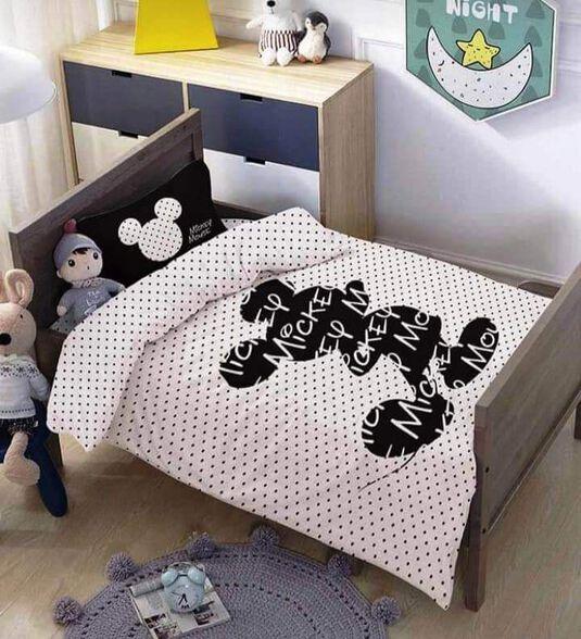 מצעים למיטת תינוק ומעבר 100% כותנה דגם סילואט, , large image number null