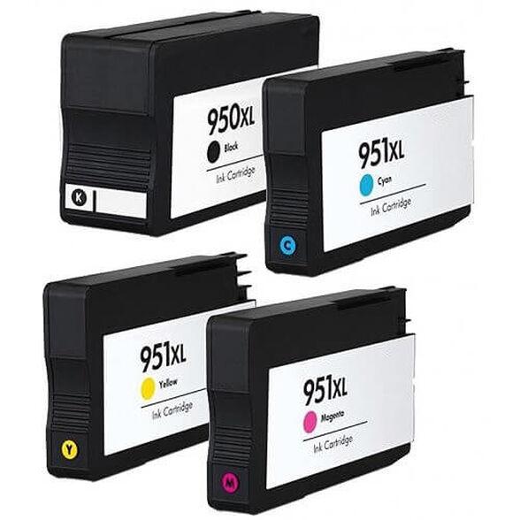 למה לשלם יותר על המקורי? סט 4 ראשי דיו תואמים למדפסות HP דגמים 950XL+951XL , , large image number null