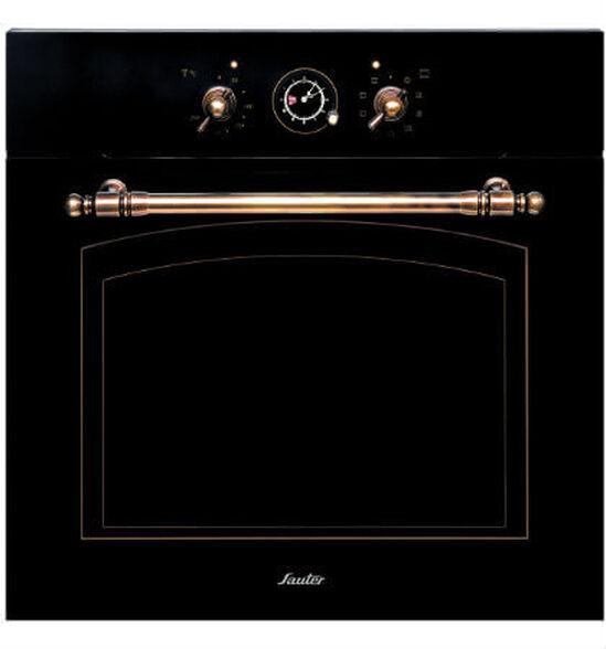 תנור בישול ואפייה יוקרתי וחדשני בנפח 65.5 ליטר, דלת בעלת 3 שכבות זכוכית ו - 10 תוכניות מבית SAUTER דגם RUSTIC-4000B - בגימור שחור , , large image number null