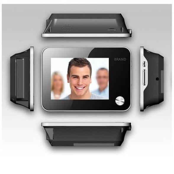 עינית דיגיטלית לדלת עם צג אחורי LCD ענק 3.5 אינץ והקלטה שימוש כפעמון כניסה כולל אפשרות צילוםעדשה של 120 מעלות. וידאו ותמונות וכן נוריות לראיית לילה , , large image number null