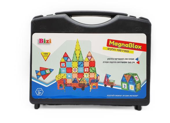 MagnaBlox מגנה בלוקס מזוודת 100 חלקים, , large image number null