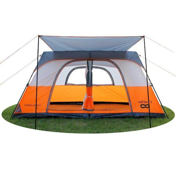 אוהל פתיחה מהירה INFINITY EVERGLADES 8 AIR - אוהל קמפינג משפחתי פתיחה מהירה ל-8 אנשים, , large image number null