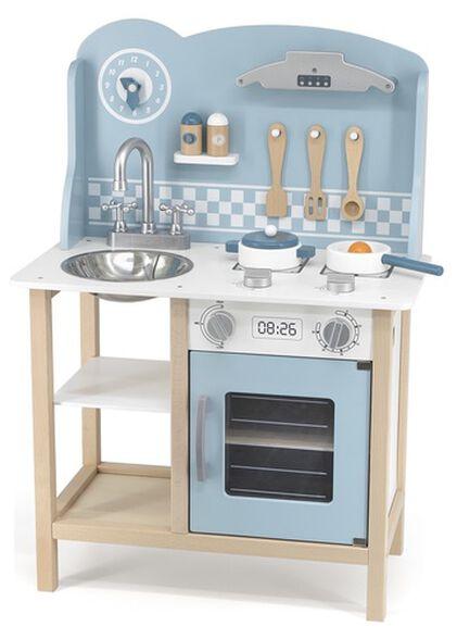 מטבח לילדים עם כיור, תנור, ארון ו-8 פרטי איבזור - כחול, , large image number null