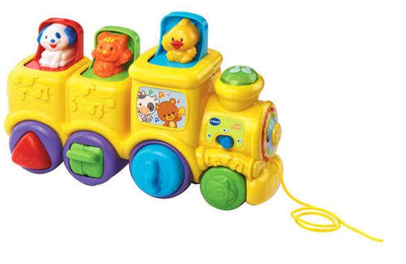 רכבת חיות קופצות מנגנת בעברית - צהוב, , large image number null