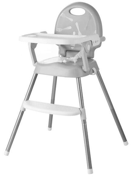 כיסא אוכל רב שלבי 3 ב 1 הופך לבוסטר, 2 מצבי גובה ומגש - אפור, , large image number null
