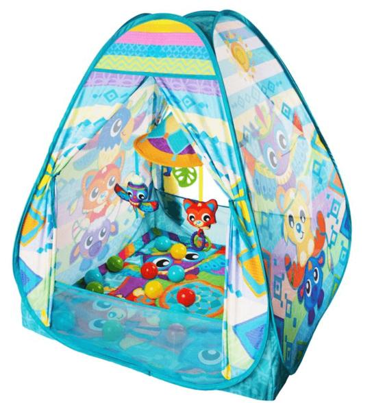 אוהל טיפי כדורים משולב עם אוניברסיטה מבית המותג PLAYGRO | כולל 30 כדורים, , large image number null