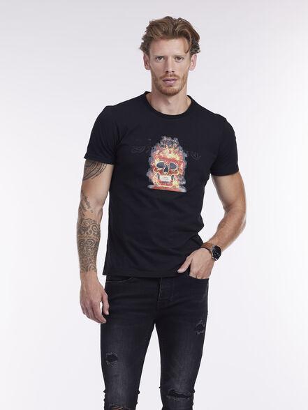 חולצת טי הדפס גולגולת, , large image number null