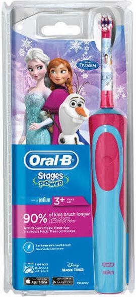 מברשת שיניים נטענת לילדים ORAL B בשני דגמים לבחירה FROZEN/CARS ._אורל בי מברשת חשמלית נטענת פרוזן D12, , large image number null