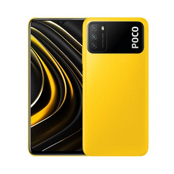 סמארטפון POCO M3 גרסה 4GB+128GB  , מעבד שמונה ליבות ומערך צילום משולש _צהוב, , large image number null