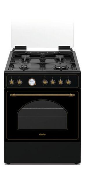 """תנור אפייה משולב 60 ס""""מ כיריים גז 4 להבות מבית Luxor דגם LX6060RUS  , , large image number null"""