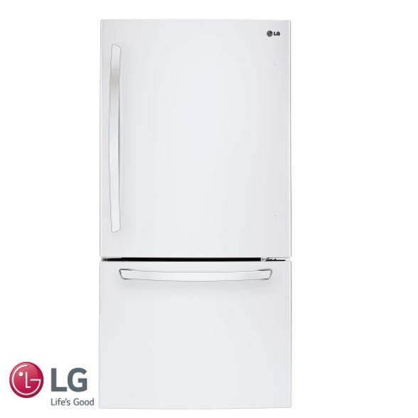 מקרר LG מקפיא תחתון בנפח 631 ליטר No Frost תאורת LED פנימית דירוג אנרגטי A בצבע לבן דגם GM651W   , , large image number null