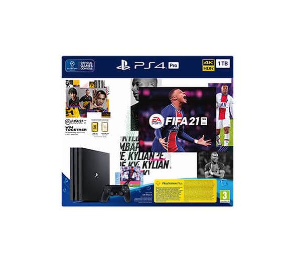 קונסולה  Sony PlayStation 4 Pro למקצוענים! תצוגה ברזולוציית 4K בנפח 1TB כולל FIFA 2021 , , large image number null