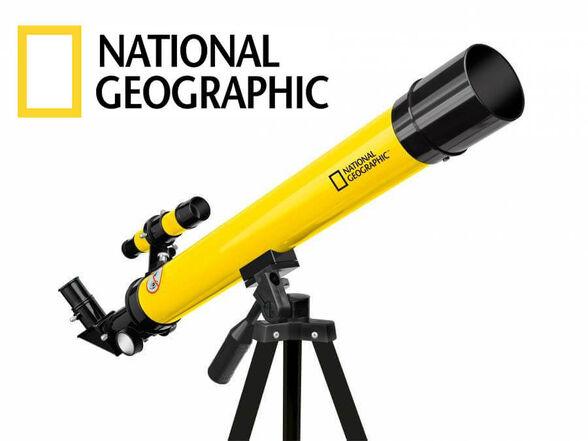 טלסקופ אסטרונומי לילדים ונוער X50-X100 מבית National Geographic עם כוונת מובנית אורך מוקד 600 ועדשת, , large image number null