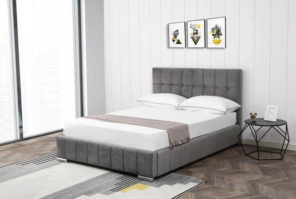 מיטה רחבה לנוער 120x190 מעוצבת ומרופדת בד קטיפתי HOME DECOR דגם מוניק , , large image number null