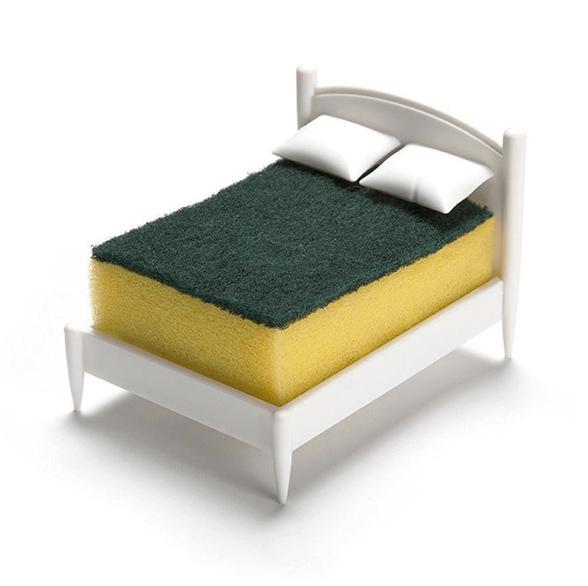 מעמד לספוג כלים למטבח בצורת מיטה | מחזיק ספוג לכיור, , large image number null
