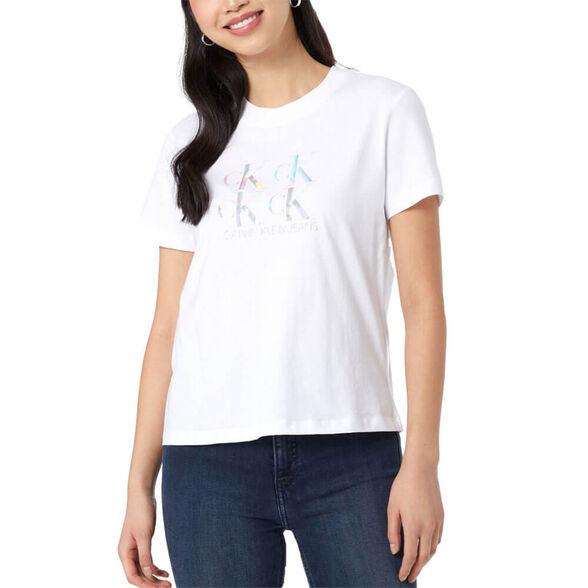 חולצת טישרט קלווין קליין קצרה Shine Logo Tee נשים, , large image number null
