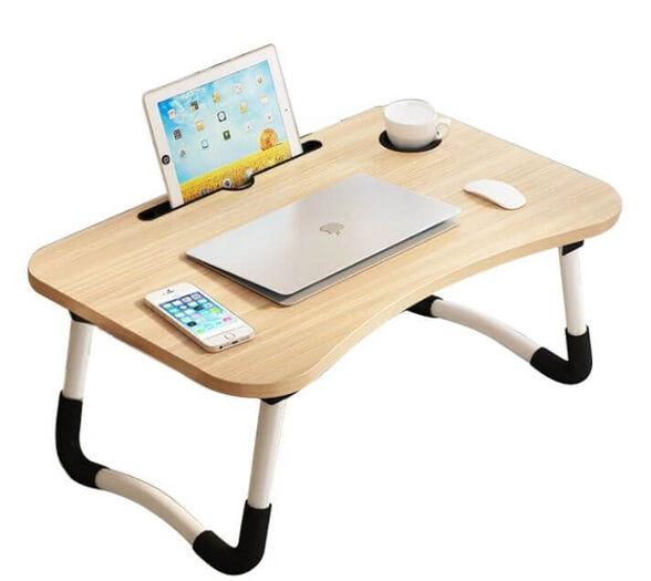 שולחן מתקפל למחשב נייד עץ , , large image number null