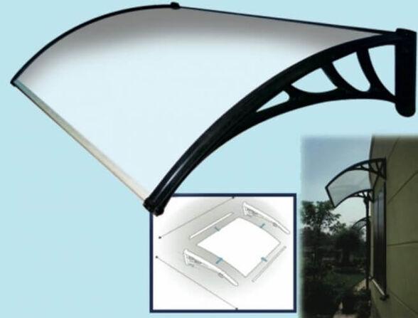 """גגון מעוצב לחלון או לדלת הבית 100-120 ס""""מ   עשוי פוליקרבונט בעובי 3 מ""""מ, הרכבה קלה ונוחה מבית SHAZAR, , large image number null"""