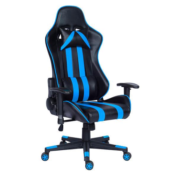 כסא גיימינג דגם GAMER PRO בעל כריות נוחות לראש ולגב |  אפשרות הטיה לאחור עד מצב שכיבה מלא 180 מעלות | הובלה חינם!, , large image number null