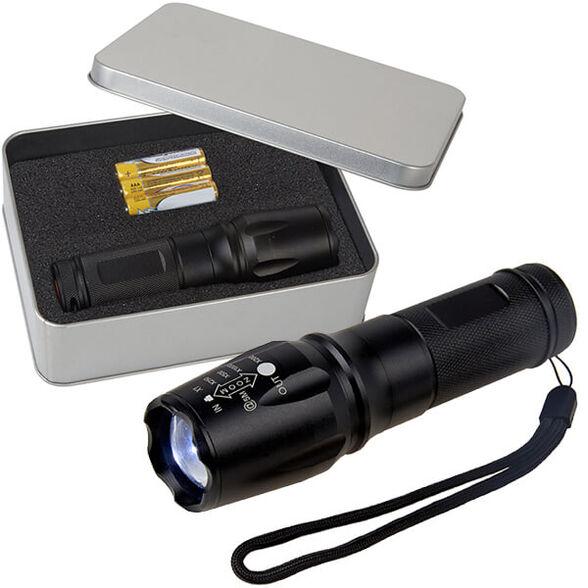 פנס מקצועי OPTO-LED בעוצמה 500 לומנס עם תאורת פוקוס משתנה במארז מתכתי, , large image number null