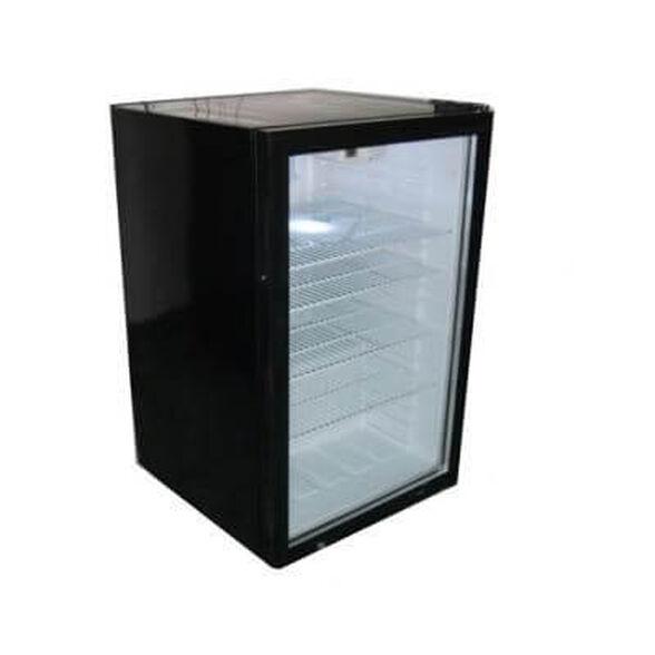 מקרר מעוצב בנפח 130 ליטר חזית שקופה מבית Landers מתאים  למשרד, למלון, לחנות ולתצוגה בצבע שחור | דגם SC130 , , large image number null