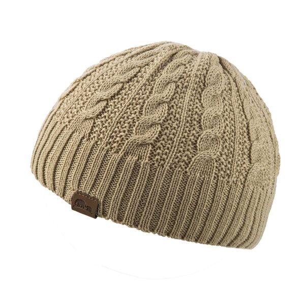 כובע צמר נשים GREENLAND איכותי להגנה מפני קור מבית GO NATURE_צבע בז', , large image number null