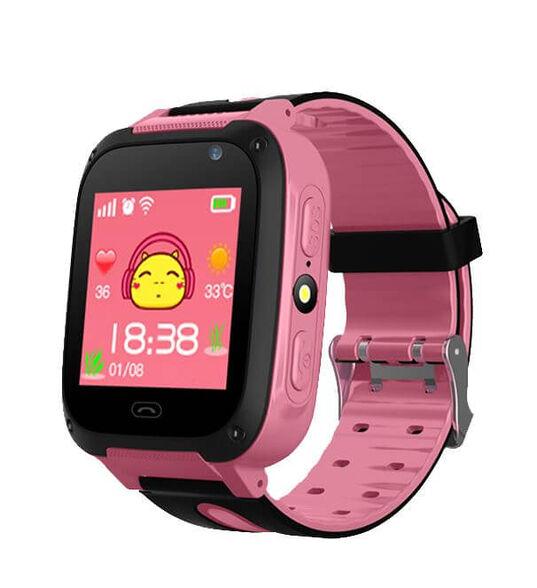 שעון בטיחות מתקדם חכם לילדים – הטלפון הראשון לילד דגם KidiWatch Junior _ורוד, , large image number null