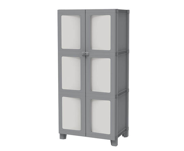 ארון שירות איכותי ומעוצב , כולל זוג דלתות עם אפשרות לנעילה מבית KETER ., , large image number null
